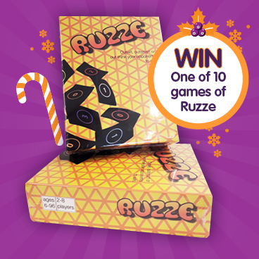 10 brand new board games of RUZZE to be won for Christmas